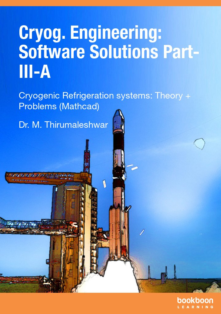 Cryog. Engineering: Software Solutions Part-III-A Cryogenic Refrigeration systems: Theory + Problems (Mathcad) icon