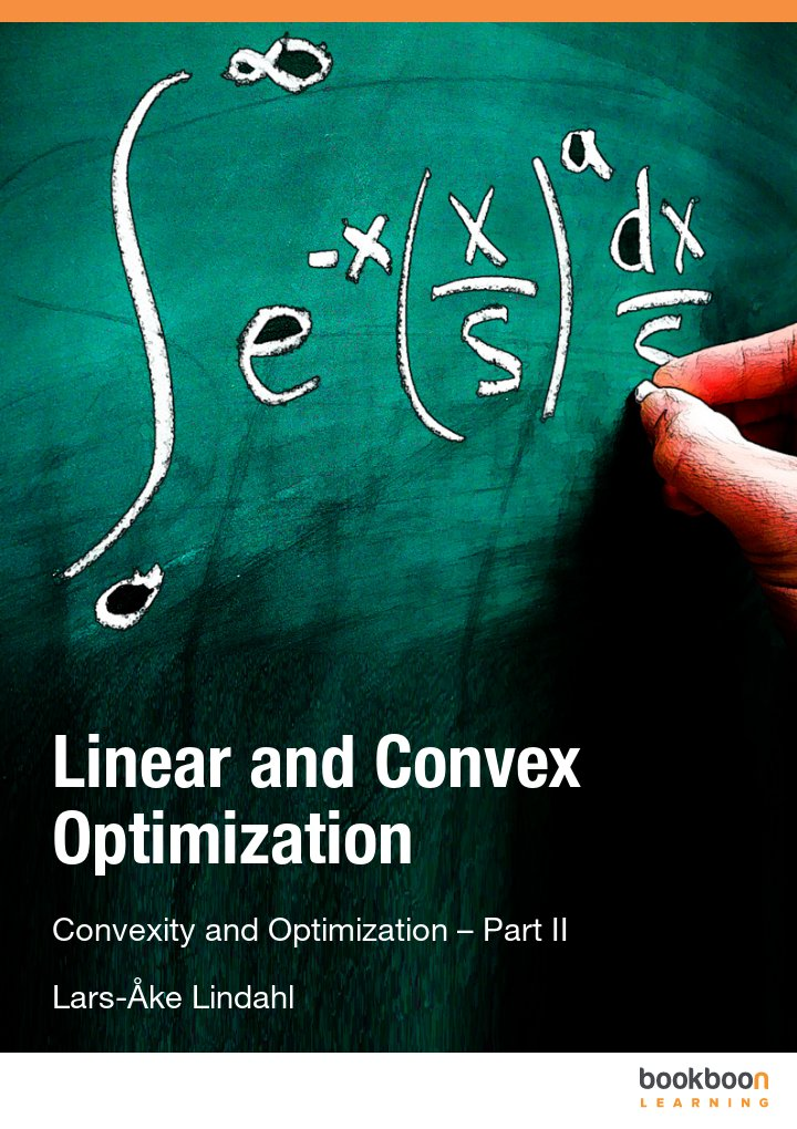 Linear and Convex Optimization Convexity and Optimization – Part II icon