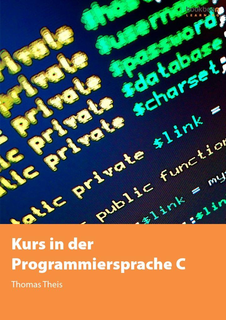 Kurs in der Programmiersprache C