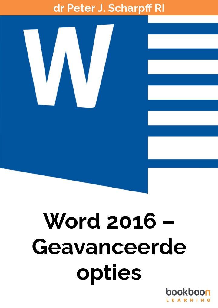 Word 2016 – Geavanceerde opties
