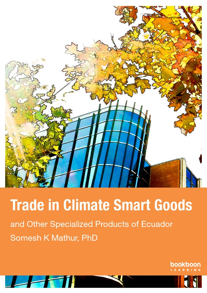Trade in Climate Smart Goods
