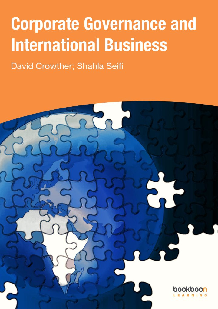 """Corporate Governance and International Business"" icon"