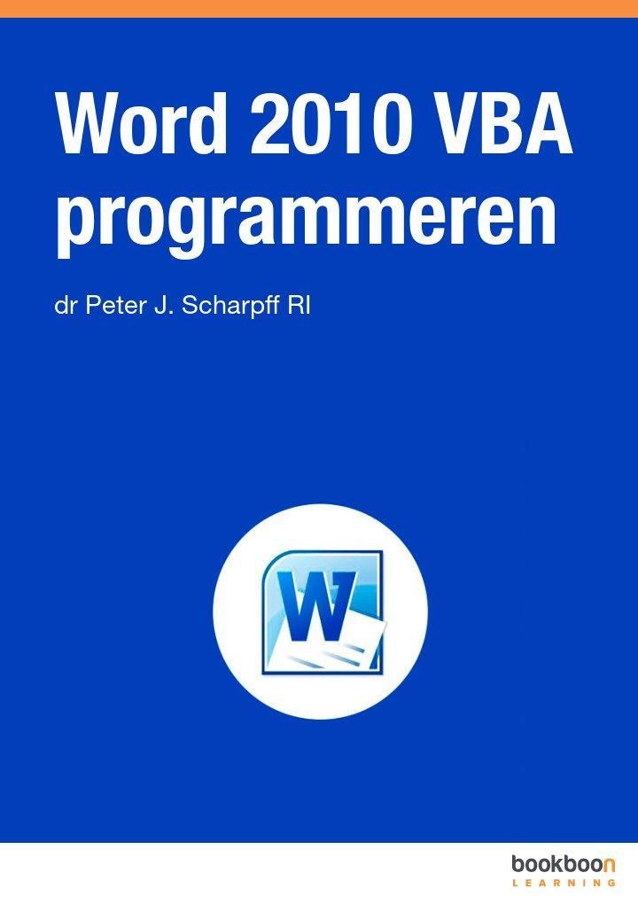 Word 2010 VBA programmeren