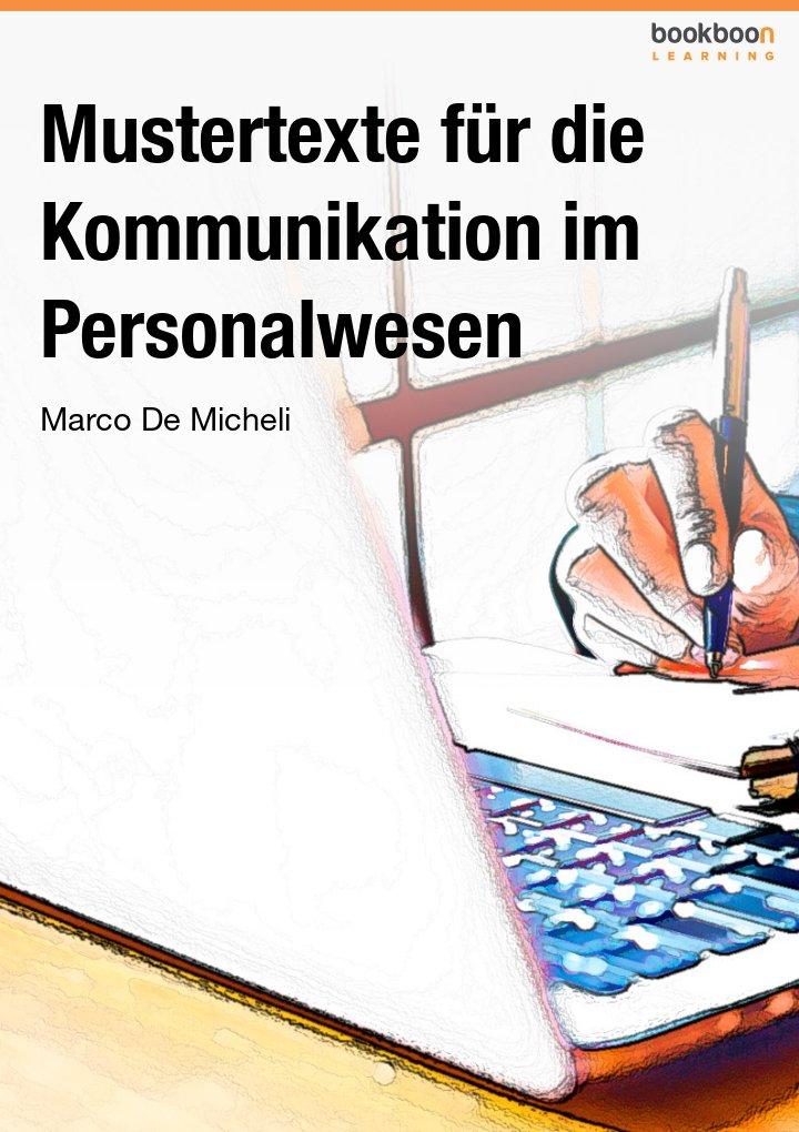 Mustertexte für die Kommunikation im Personalwesen