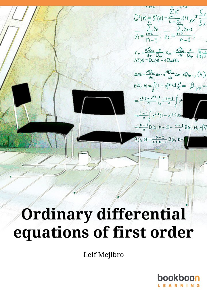 Ordinary differential equations of first order