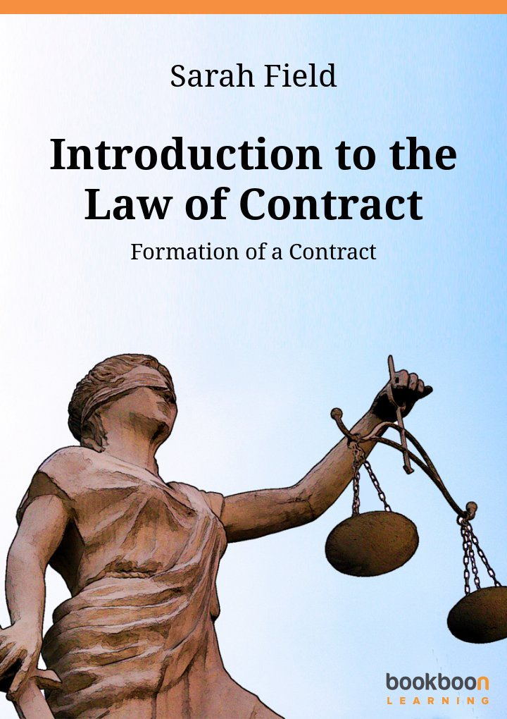 introduction to the law of contract formation of a contract