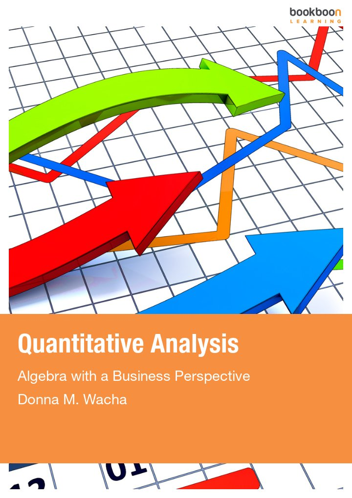 quantitative analysis algebra with a business perspective