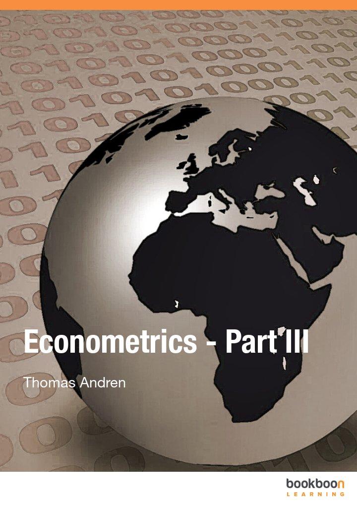 Econometrics - Part III