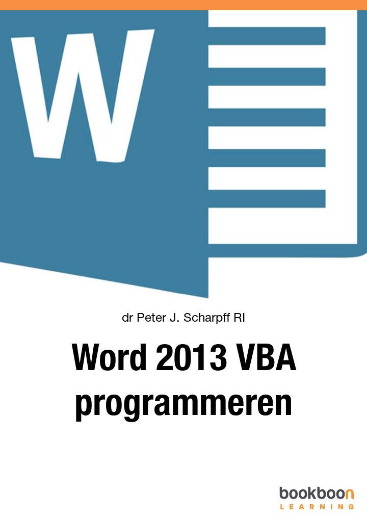 Word 2013 VBA programmeren