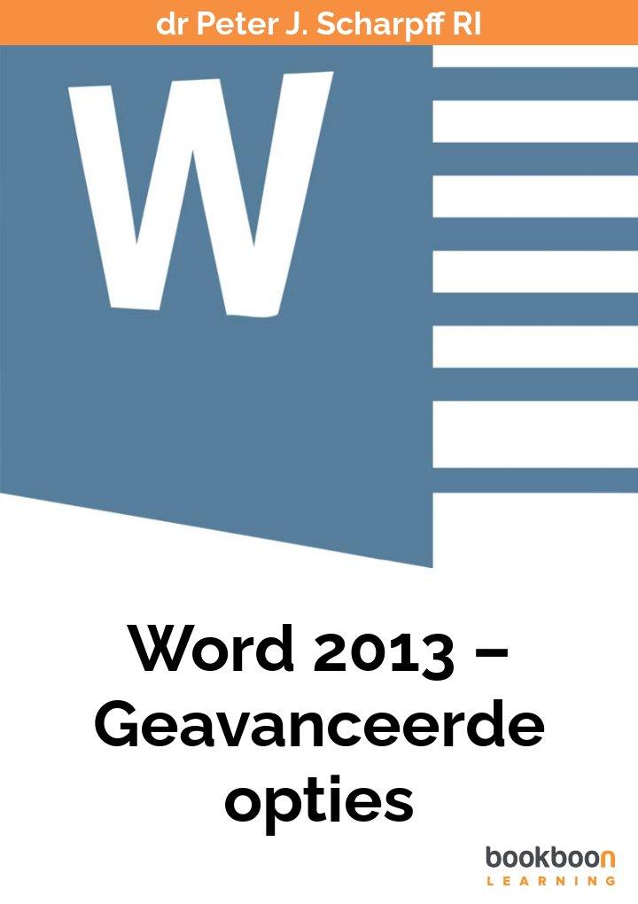 Word 2013 – Geavanceerde opties