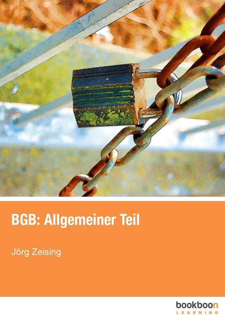 BGB: Allgemeiner Teil