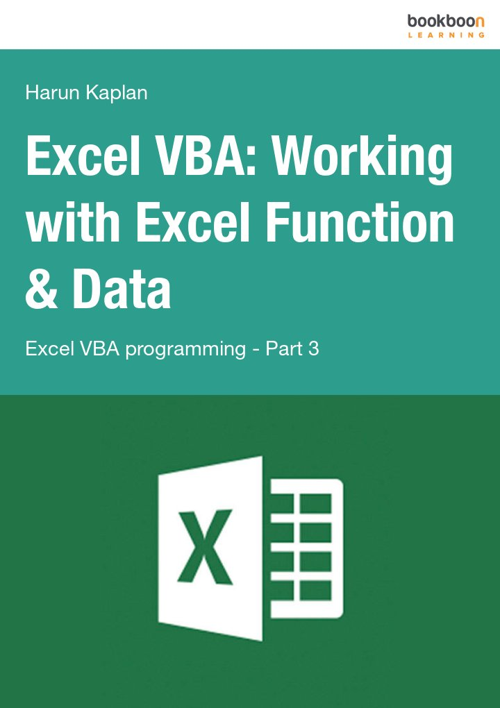 Excel VBA: Working with Excel Function & Data